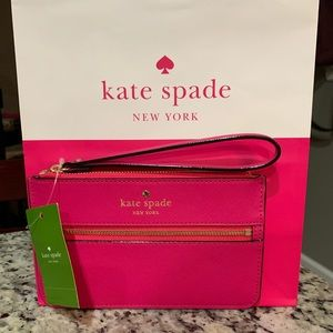 NWT Authentic Kate Spade leather Wristlet